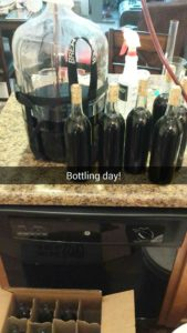 Blueberry mead bottling progress