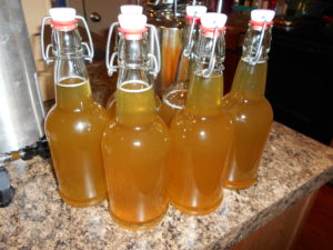 mango serrano pepper mead finished bottling