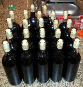 Blueberry mead recipe - bottled