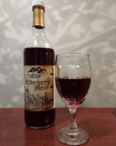 wtldewood elderberry mead in glass
