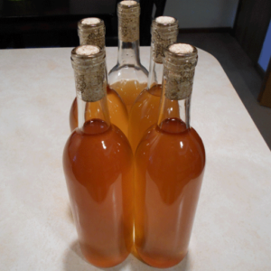 The almost 5 bottles of Eucalyptus mead