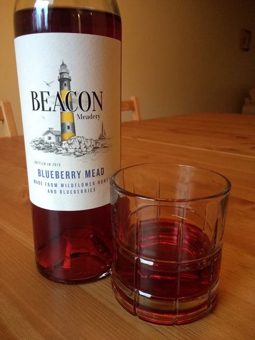 blueberry mead in a glass