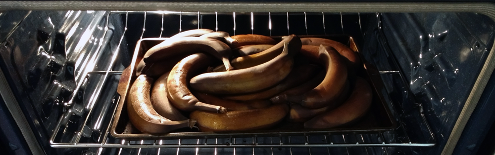 bananas in oven
